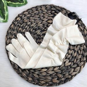 New Express Ivory Long Ruched Gloves